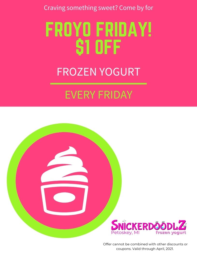 FROYO Friday, 1 dollar of frozen yogurt