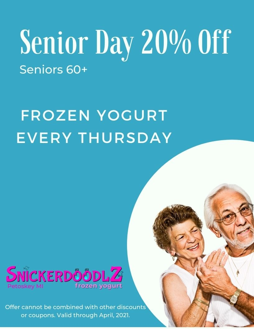 Thursday Senior Day, 20 present off frozen yogurt
